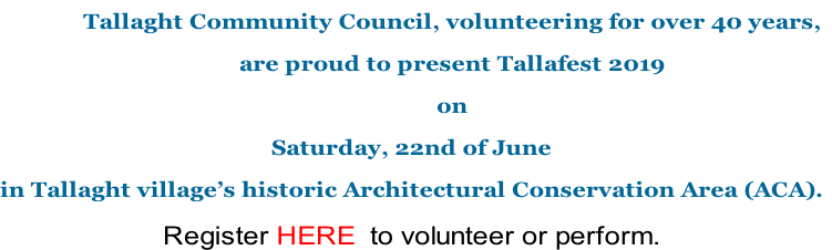 Tallaght Community Council, volunteering for over 40 years,